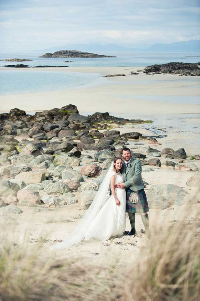 Isle of Coll wedding on a beach